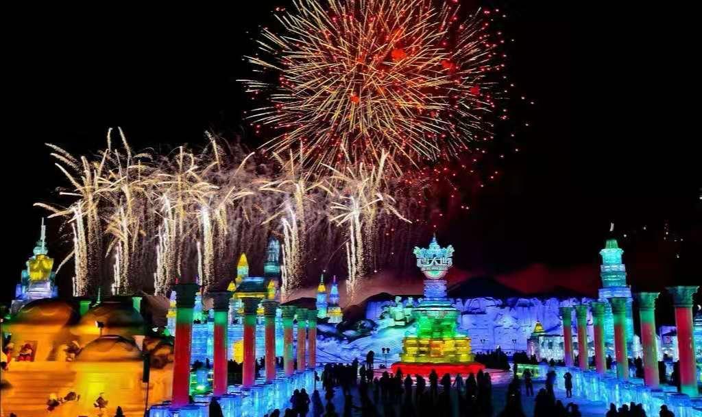 武汉到东北过春节:冰都哈尔滨、童话雪乡、滑雪温泉、冰雪大世界双飞 6 日游