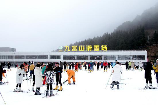 【自驾双人套餐】九宫山滑雪+瑶池温泉